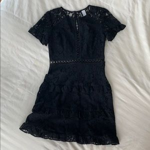 H&M Divided black lace mini dress size 6
